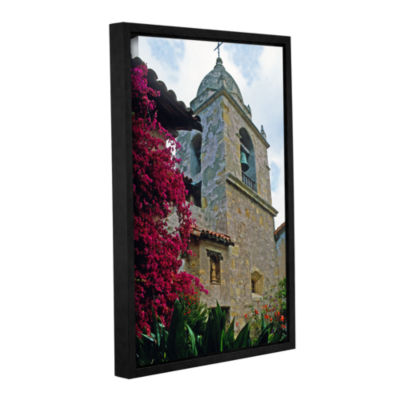 Brushstone Mission Tower Gallery Wrapped Floater-Framed Canvas Wall Art