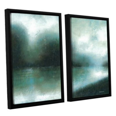 Brushstone Mist Of The Dawn 2-pc. Floater Framed Canvas Wall Art