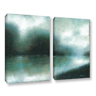 Brushstone Mist Of The Dawn 2-pc. Gallery WrappedCanvas Wall Art