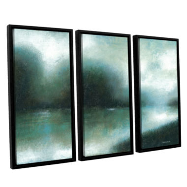 Brushstone Mist Of The Dawn 3-pc. Floater Framed Canvas Wall Art