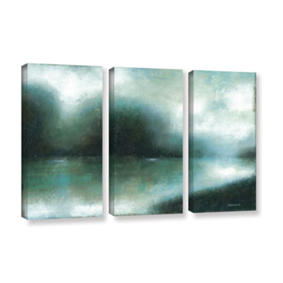 Brushstone Mist Of The Dawn 3-pc. Gallery WrappedCanvas Wall Art