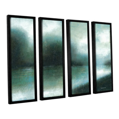 Brushstone Mist Of The Dawn 4-pc. Floater Framed Canvas Wall Art