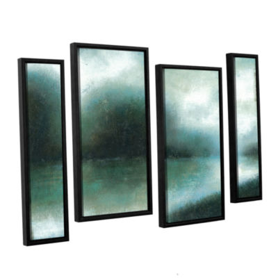 Brushstone Mist Of The Dawn 4-pc. Floater Framed Staggered Canvas Wall Art