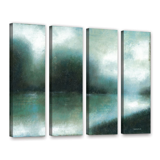 Brushstone Mist Of The Dawn 4-pc. Gallery WrappedCanvas Wall Art