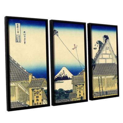 Brushstone Mitsui Shop On Suruga Street In Edo 3-pc. Floater Framed Canvas Wall Art
