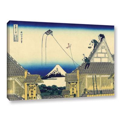 Brushstone Mitsui Shop On Suruga Street In Edo Gallery Wrapped Canvas Wall Art