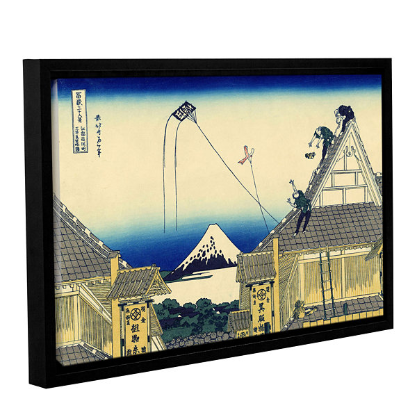 Brushstone Mitsui Shop On Suruga Street In Edo Gallery Wrapped Floater-Framed Canvas Wall Art