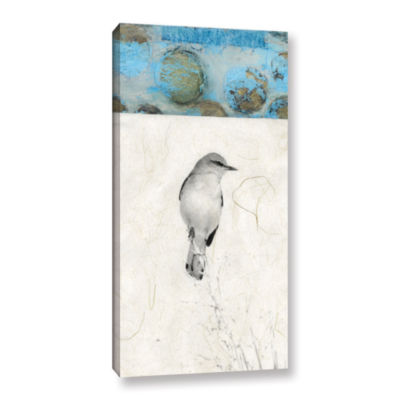 Brushstone Mocking Bird Abstract Gallery Wrapped Canvas Wall Art