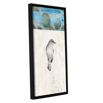 Brushstone Mocking Bird Abstract Gallery Wrapped Floater-Framed Canvas Wall Art