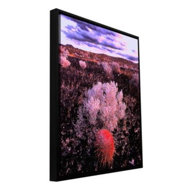 Brushstone Mojave Desert Dusk Gallery Wrapped Floater-Framed Canvas Wall Art