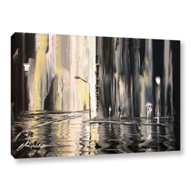Brushstone Mono Gallery Wrapped Canvas Wall Art