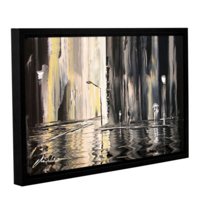 Brushstone Mono Gallery Wrapped Floater-Framed Canvas Wall Art