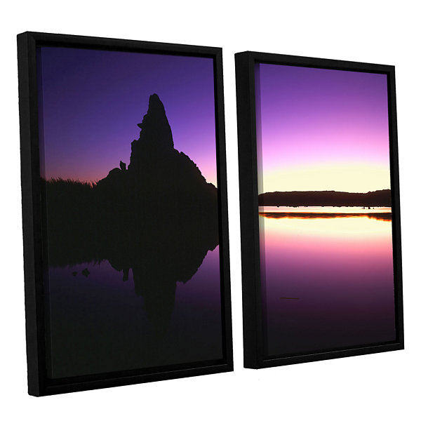 Brushstone Mono Lake Dawn 2-pc. Floater Framed Canvas Wall Art