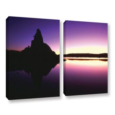 Brushstone Mono Lake Dawn 2-pc. Gallery Wrapped Canvas Wall Art