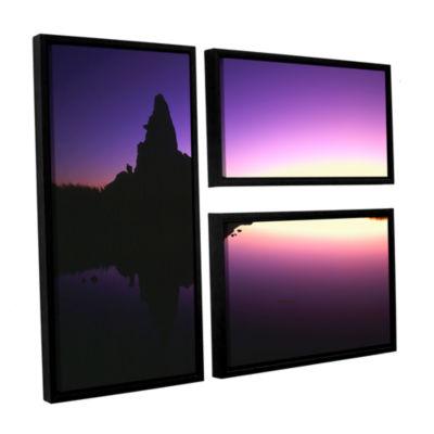 Brushstone Mono Lake Dawn 3-pc. Flag Floater Framed Canvas Wall Art