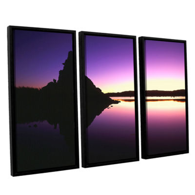 Brushstone Mono Lake Dawn 3-pc. Floater Framed Canvas Wall Art