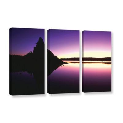 Brushstone Mono Lake Dawn 3-pc. Gallery Wrapped Canvas Wall Art