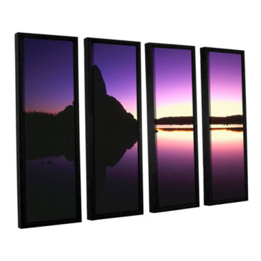 Brushstone Mono Lake Dawn 4-pc. Floater Framed Canvas Wall Art