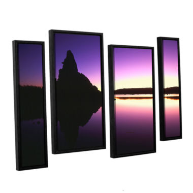 Brushstone Mono Lake Dawn 4-pc. Floater Framed Staggered Canvas Wall Art