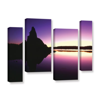 Brushstone Mono Lake Dawn 4-pc. Gallery Wrapped Staggered Canvas Wall Art
