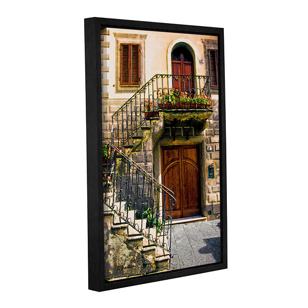 Brushstone Montalcino Entry Gallery Wrapped Floater-Framed Canvas Wall Art