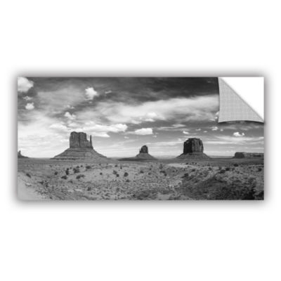 Brushstone Monument Valley Daytime Panoramic B&W Removable Wall Decal
