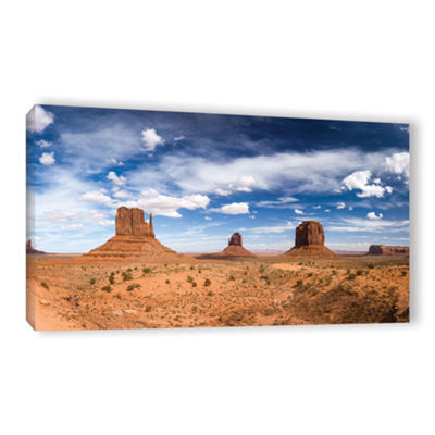 Brushstone Monument Valley Daytime Panoramic ColorGallery Wrapped Canvas Wall Art