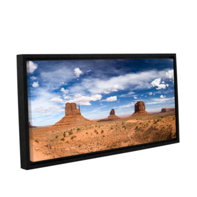 Brushstone Monument Valley Daytime Panoramic ColorGallery Wrapped Floater-Framed Canvas Wall Art