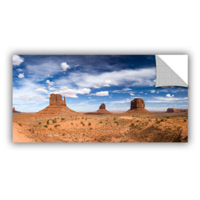 Brushstone Monument Valley Daytime Panoramic ColorRemovable Wall Decal
