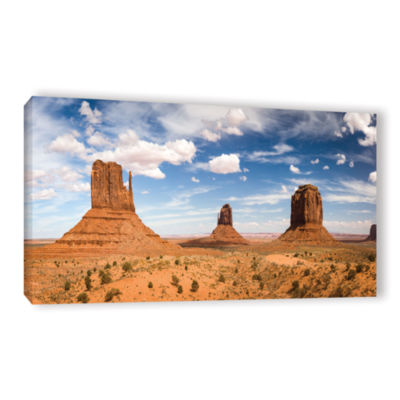 Brushstone Monument Valley Daytime Panoramic Gallery Wrapped Canvas Wall Art