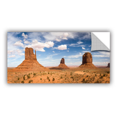 Brushstone Monument Valley Daytime Panoramic Removable Wall Decal