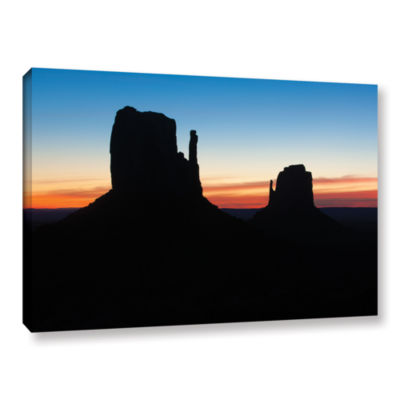 Brushstone Monument Valley Mittens Silhouette Gallery Wrapped Canvas Wall Art