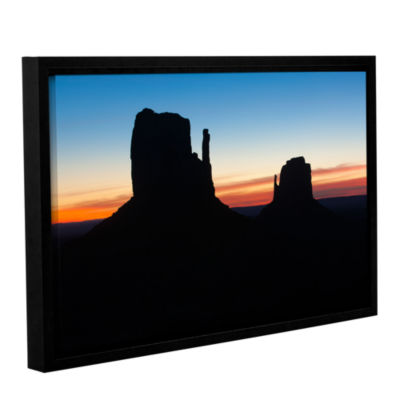 Brushstone Monument Valley Mittens Silhouette Gallery Wrapped Floater-Framed Canvas Wall Art