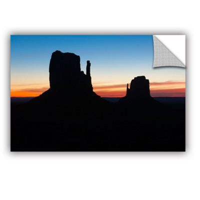Brushstone Monument Valley Mittens Silhouette Removable Wall Decal