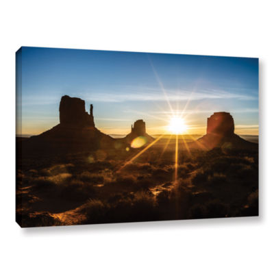 Brushstone Monument Valley Sunburst Gallery Wrapped Canvas Wall Art