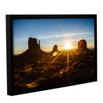 Brushstone Monument Valley Sunburst Gallery Wrapped Floater-Framed Canvas Wall Art