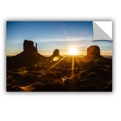 Brushstone Monument Valley Sunburst Removable WallDecal