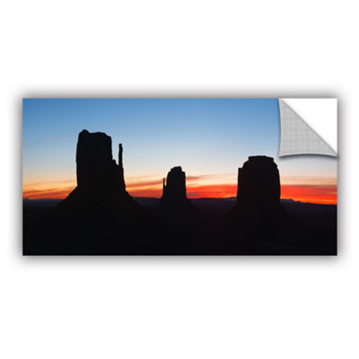 Brushstone Monument Valley Sunrise Silhouette Panoramic Removable Wall Decal