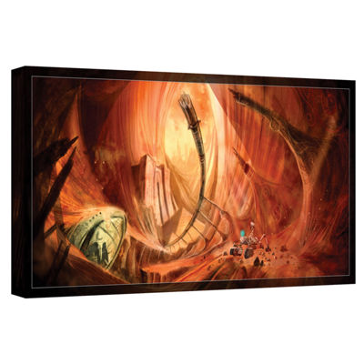 Brushstone Monuments Of Mars 2 Gallery Wrapped Canvas Wall Art