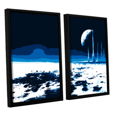 Brushstone Moon Sea 2-pc. Floater Framed Canvas Wall Art