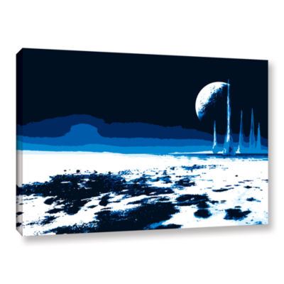 Brushstone Moon Sea Gallery Wrapped Canvas Wall Art