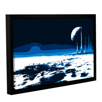Brushstone Moon Sea Gallery Wrapped Floater-FramedCanvas Wall Art