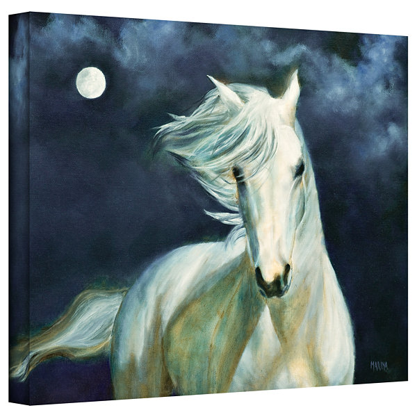 Brushstone Moon Silver Gallery Wrapped Canvas WallArt