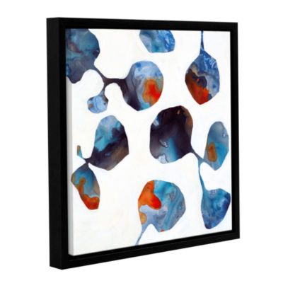 Brushstone Moonflower II Gallery Wrapped Floater-Framed Canvas Wall Art