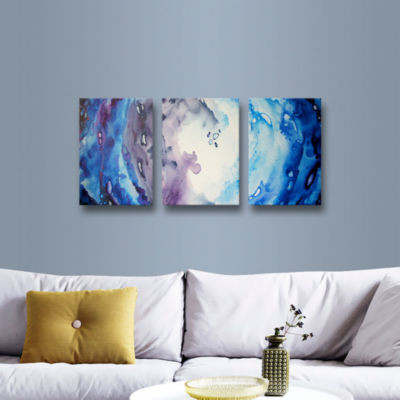 Brushstone Moonlight 3-pc. Gallery Wrapped CanvasWall Art