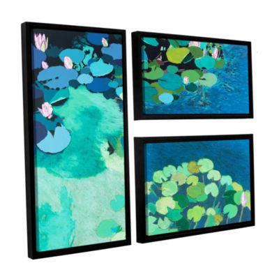 Brushstone Moonlit Shadows 3-pc. Flag Floater Framed Canvas Wall Art