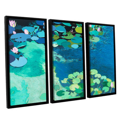 Brushstone Moonlit Shadows 3-pc. Floater Framed Canvas Wall Art