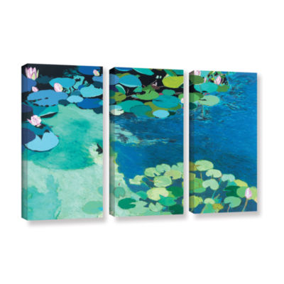 Brushstone Moonlit Shadows 3-pc. Gallery Wrapped Canvas Wall Art