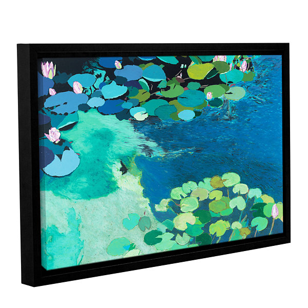 Brushstone Moonlit Shadows Gallery Wrapped Floater-Framed Canvas Wall Art