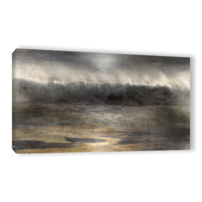 Brushstone Moonlit Wave Gallery Wrapped Canvas Wall Art